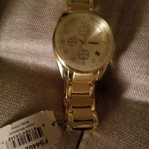 Mens Gold Fossil Watch